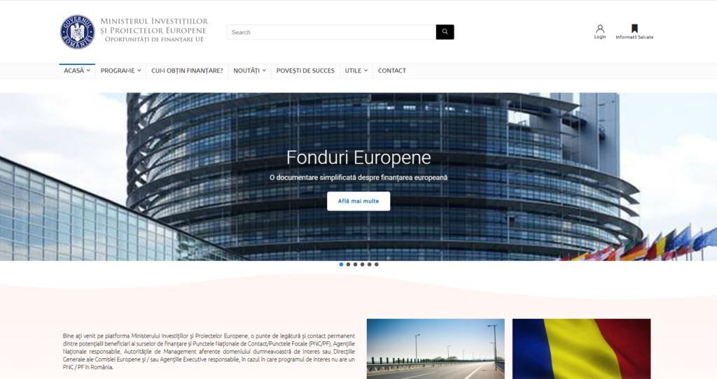 NOU! Platformă oportunități de finanțare UE